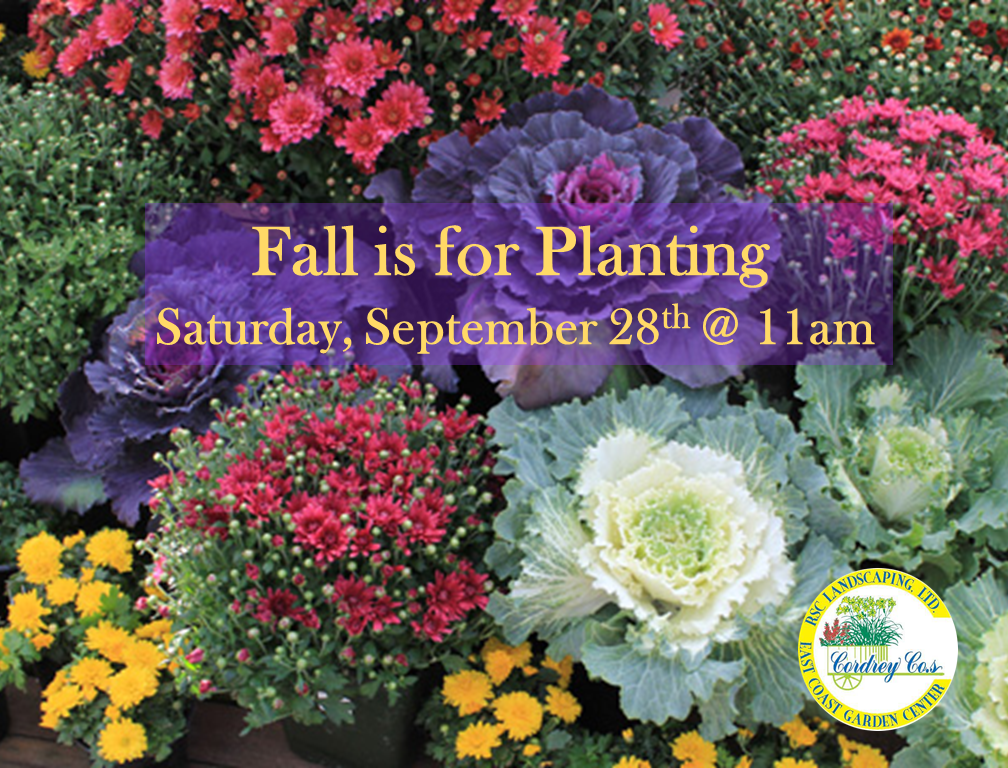 Fall is For Planting Class - Sept 28th