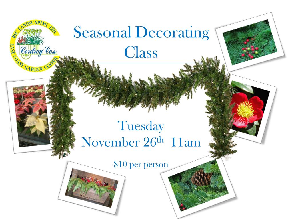 Seasonal Decorating Class