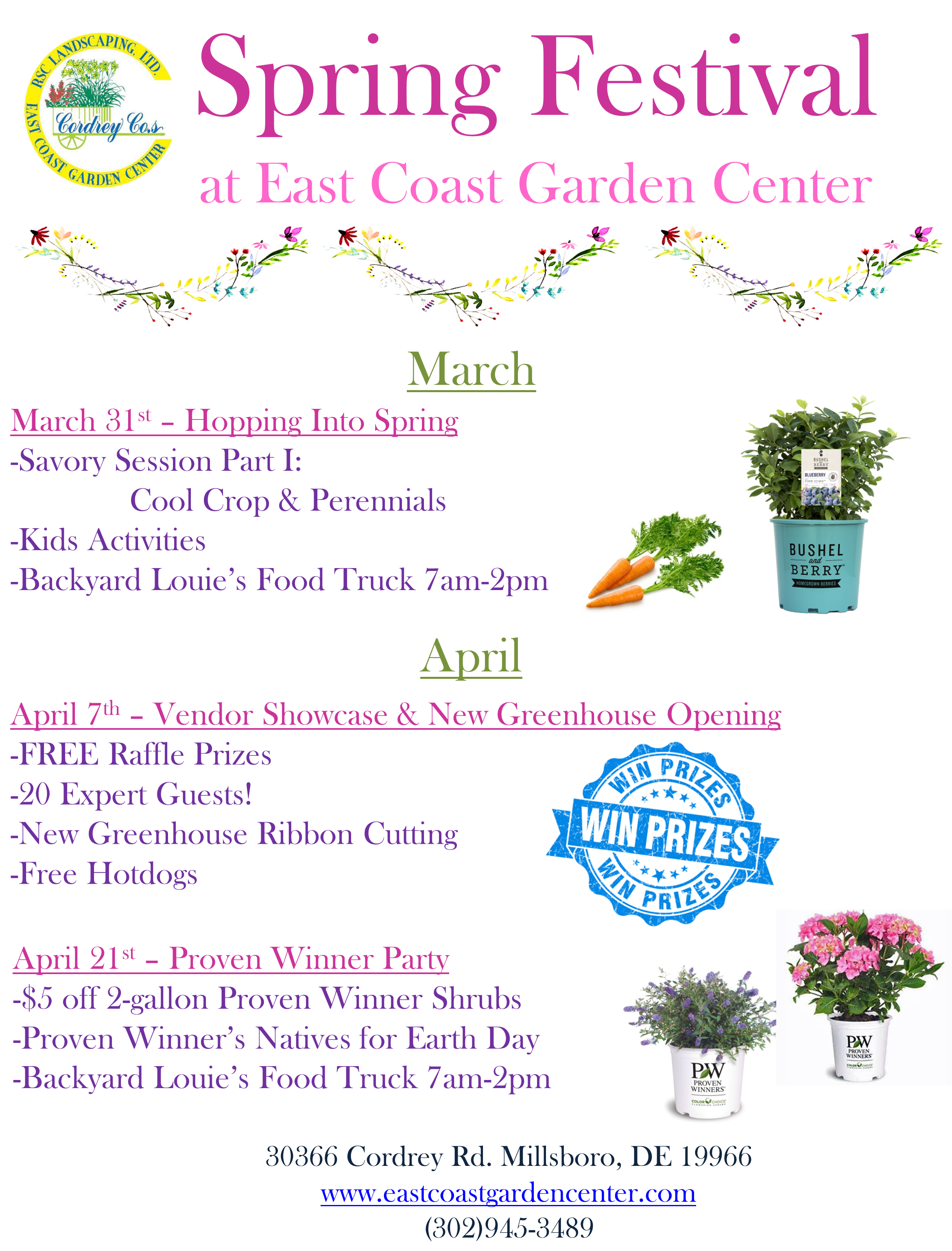 Spring Festival - Overview - East Coast Garden Center on garden christmas, garden art, flower garden in old truck, garden organic, garden market, garden vegetables, garden mediterranean, garden snake, garden grill,