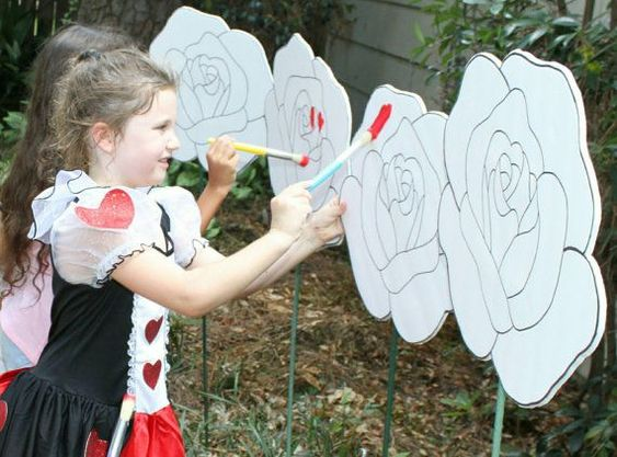 Painting Roses Red -- Kids Activity